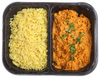 Indian Chicken Curry Ready Meal. Indian chicken tikka masala ready meal Royalty Free Stock Image