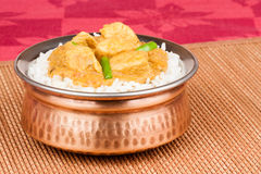 Indian Chicken Curry with Rice Stock Images