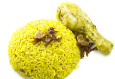 Indian chicken Rice Curry royalty free stock photography
