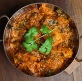 Indian Chicken Saag Massala Curry Royalty Free Stock Photo