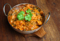 Indian Chicken Saag Massala Curry Stock Images