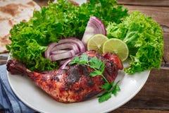 Indian chicken tandoori Royalty Free Stock Images