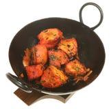 Indian Chicken Tikka. Chicken tikka in sizzler serving dish Royalty Free Stock Photo