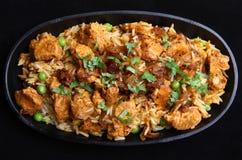 Indian Chicken Tikka Biriyani Royalty Free Stock Photography