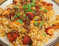 Indian Chicken Tikka Biriyani Stock Image