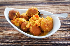 Indian Chickpea balls Royalty Free Stock Photography