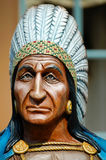 The Indian Chief. Statue of an Indian Chief outside a cigar shop royalty free stock photo
