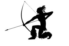 Indian chief with a bow on a white. Indian chief with a bow Illustration on a white royalty free illustration