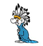 Indian chief cartoon illustration Stock Photos