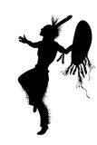 Indian chief dancing isolate