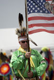 Indian Chief with flag Stock Images