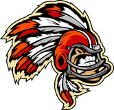 Indian Chief Football Mascot Royalty Free Stock Image