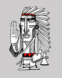 Indian chief Royalty Free Stock Photos