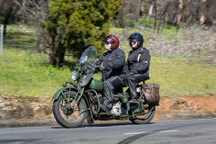 1944 Indian Chief - Military Motorcycle on country road Stock Images