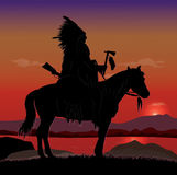 Indian Chief Rider Stock Image