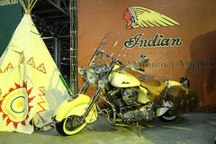 Indian Chief Roadmaster motorcycle Royalty Free Stock Images