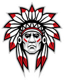Indian chief. Vector of indian chief head mascot Stock Images