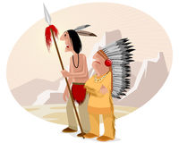 Indian and chief Stock Images
