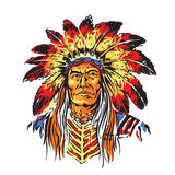 Indian Chief Royalty Free Stock Images