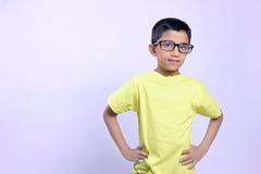 Indian child on eyeglass Royalty Free Stock Image