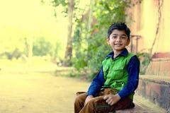 Indian child smiling Stock Photo