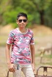 Indian child on sunglasses Stock Photos