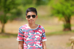 Indian child on sunglasses Royalty Free Stock Photos