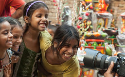 Indian Children. Are enjoying photography Royalty Free Stock Photos