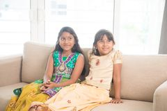 Indian children at home Stock Photos