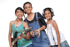 Indian Children music band Stock Image