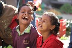 Indian children smiling Stock Image