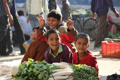Indian children smiling. Royalty Free Stock Photo