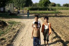 Indian children at a village Stock Photography