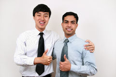 Indian and Chinese businessman. Royalty Free Stock Image