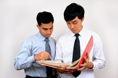 Indian and Chinese businessman. Royalty Free Stock Photo