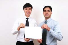Indian and chinese businessman. Royalty Free Stock Images