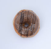 Indian chocolate donuts top angle Royalty Free Stock Photo