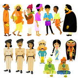 Indian citizens set different policeman. vector illustration Royalty Free Stock Photos