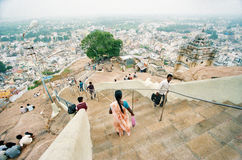 Indian city on the hill Royalty Free Stock Images