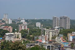 Indian city of Mangalore. Mangalore, India - October 25, 2015 - Airial of Mangalore, South India Royalty Free Stock Images