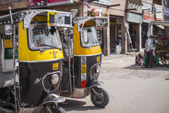Indian city street at Jodhur, India. Royalty Free Stock Images
