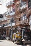 Indian city street at Jodhur, India. royalty free stock image