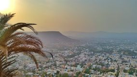 Indian City from Top. Scene from Ajinkya Tara fort in Satara India Royalty Free Stock Photos