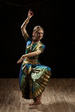 Indian classical dance Bharatanatyam dancer Stock Images