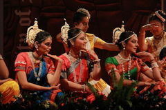 Indian Classical Dance expression Royalty Free Stock Image