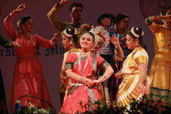 Indian Classical Dance face expression Royalty Free Stock Images