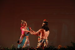 Indian classical dance live performance Stock Images