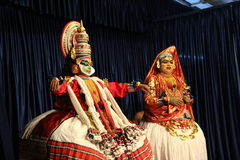 Indian Classical Dance pair Royalty Free Stock Images
