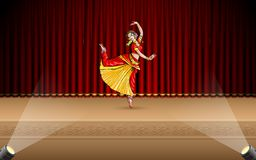 Indian Classical Dancer Royalty Free Stock Photography