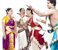 Indian classical dancers Royalty Free Stock Images